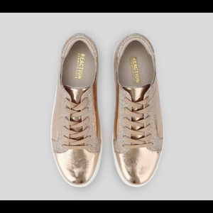 NIB! 9.5 Kenneth Cole rose gold sneakers
